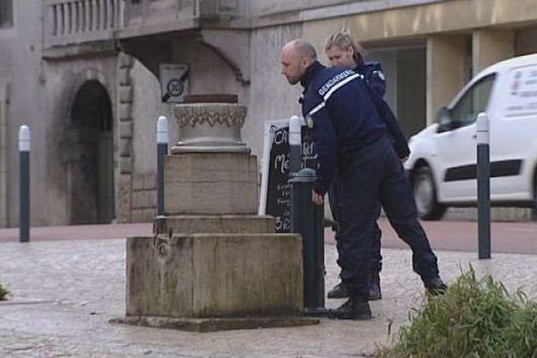 A Orgelet, la statue de la place a été dérobée. Ce n'est pas la première fois. Récemment ce sont des objets de culte qui ont été volés.