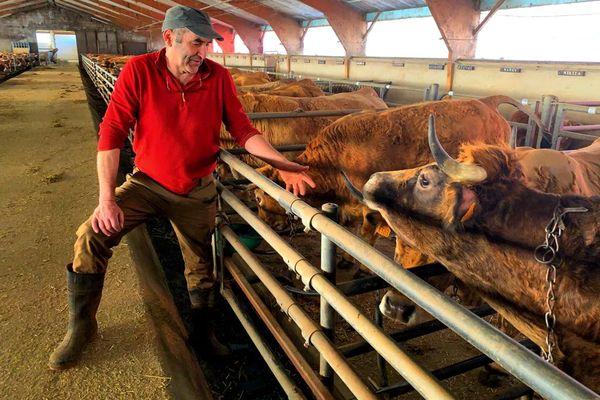 Noël Entraygues Responsable Bovins Viande à la Coordination Rurale de l'Aveyron