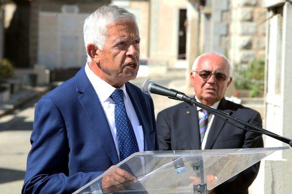 Mathieu Paoli lors de commémoration du crash de la Caravelle Ajaccio-Nice, le 11 septembre 2019 à Ajaccio.