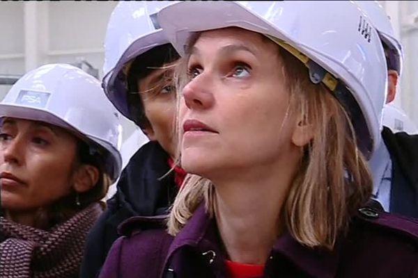 Agnès Pannier-Runacher, secrétaire d'Etat en visite chez PSA à Sochaux en mars 2019.