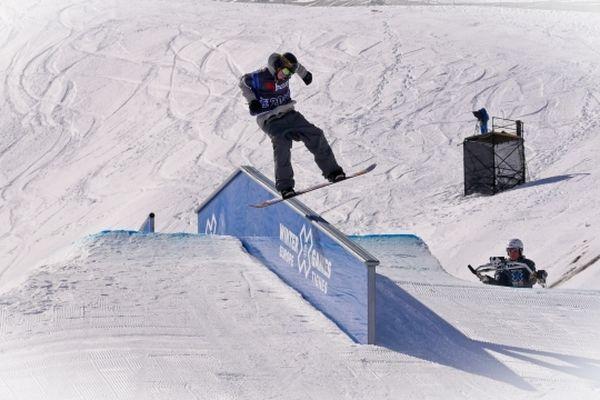 Snowboard. Epreuve de slopestyle.