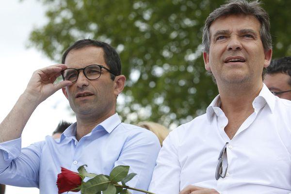 Arnaud Montebourg et Benoît Hamon, tous les deux candidats à la Présidentielle de 2017, seront prsents à l'université d'été des frondeurs à La Rochelle.