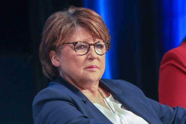 Martine Aubry, lors du congrès des maires francophones, à Lille, en novembre 2018.
