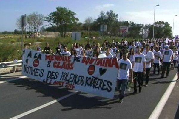 300 personnes ont manifesté contre les violences routières, en mémoire des deux jeunes filles, tuées au mois d'août entre Palavas et Montpellier