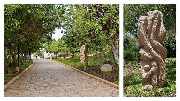 L'Allée des Justes et le monument au Juste Inconnu sur le site de Yad Vashem