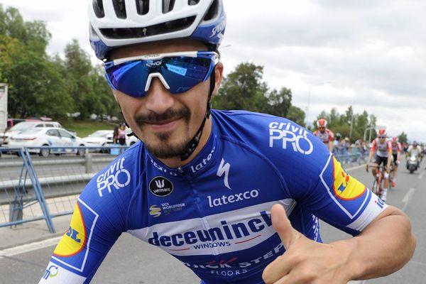 Le coureur montluçonnais Julian Alaphilippe a remporté lundi 18 mars la 6e étape de Tirreno-Adriatico.