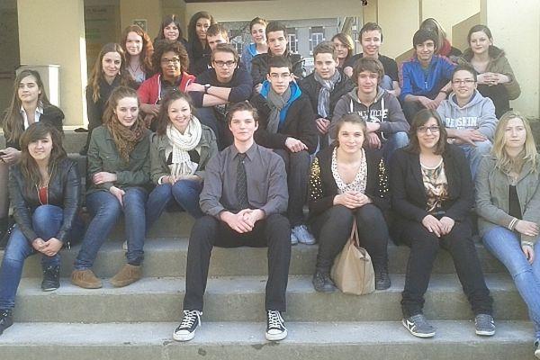 Des élèves du lycée Thomas Corneille à Barentin, dans l'agglomération de Rouen, sont venus assister au Festival du film policier de Beaune