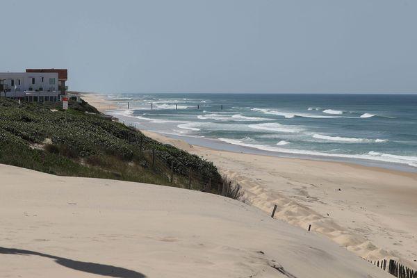 La plage de Biscarosse dans les Landes