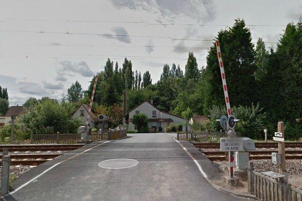Passage à niveau de la rue des écoles, à Lillers, où aurait eu lieu le suicide présumé