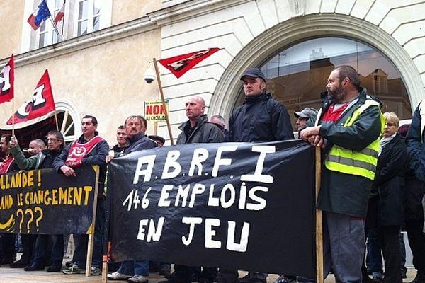 Les salariés des ABRF lors d'une précédente manifestation en 2012