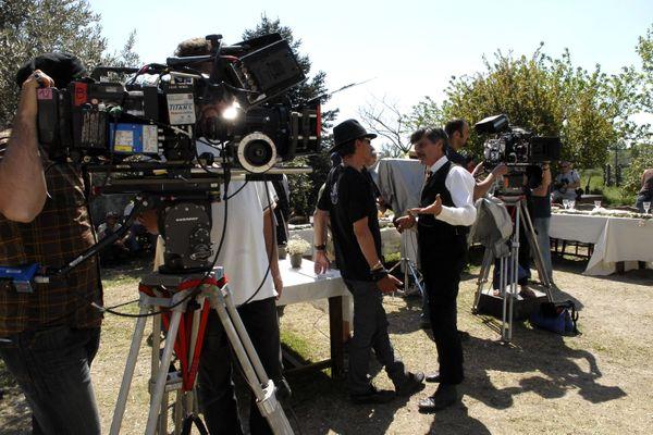 Des équipes de tournage en plein travail - Photo d'illustration
