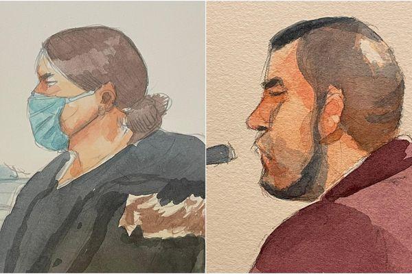 Caroline Létoile et Loic Vantal, sur le banc des accusés de la cour d'assises de Reims, en février 2021.