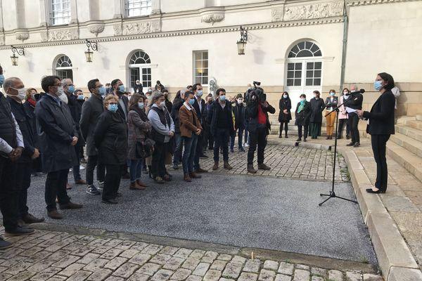 Hommage à Samuel Party à Nantes, le discours de la maire Johanna Rolland, le 20 octobre 2020