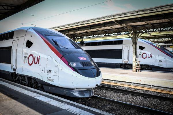 Un TGV en gare de Lyon à Paris.