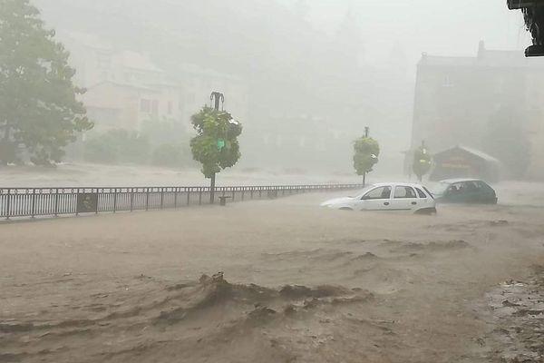 Les précipitations sont actuellement très importantes à Valleraugue dans le Gard - 19.09.20