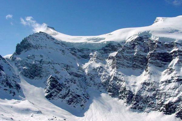 Le glacier de l'Albaron au dessus de Bonneval-sur-Arc