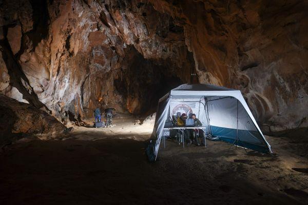 La grotte de Lombrives où les expériences sont menées