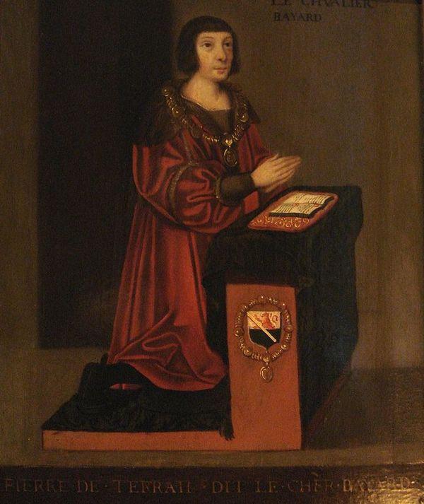 Portrait du XVIe siècle de Pierre Terrail, chevalier du Bayard.