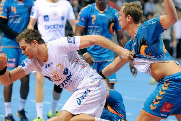 William Accambray pendant le match contre Toulouse le 3 octobre
