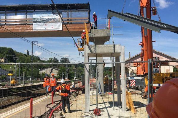Travaux en gare SNCF de Bourgoin-Jallieu