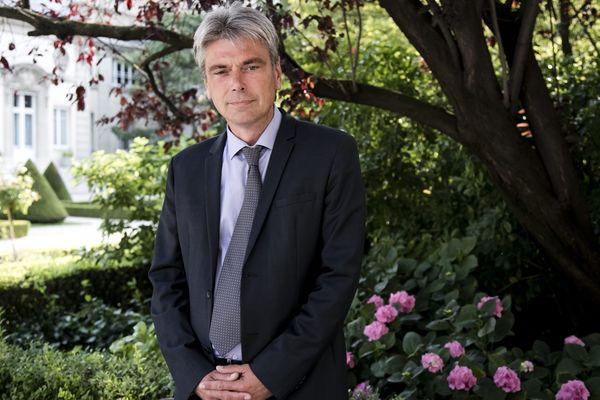 Sébastien Jumel lors de son accueil à l'Assemblée Nationale