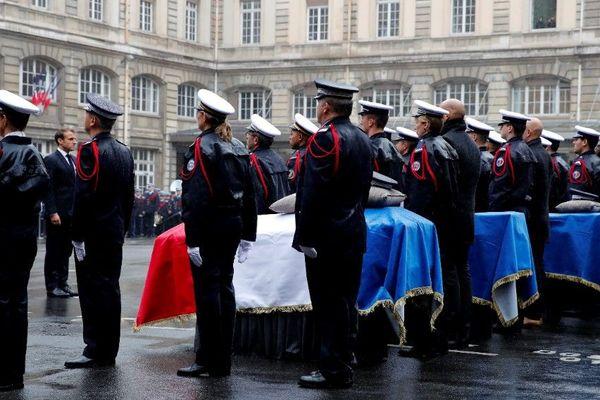 La cérémonie d'hommage aux victimes de l'attaque de la préfecture de police de Paris, en octobre 2019 (illustration).