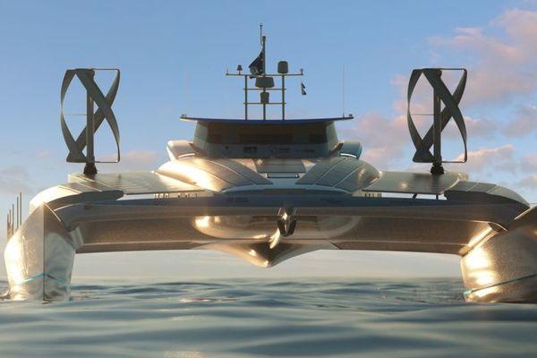 Le navire Energy Observer, catamaran hydrogène