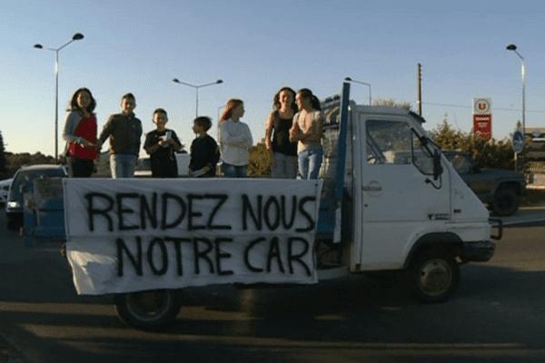 Mobilisation des parents d'élèves près de Cervione...