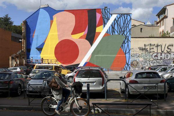 Le graf de l'artiste américain Hense, rue Saint-Anne à Toulouse, réalisé dans le cadre du festival Rose Béton
