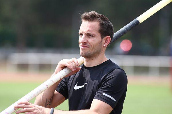 Renaud Lavillenie, à l'entraînement le 23 juillet 2014.