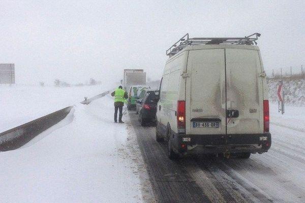 Sur l'autoroute A29 entre Amiens et Saint-Quentin ce mercredi 13 mars 2013.