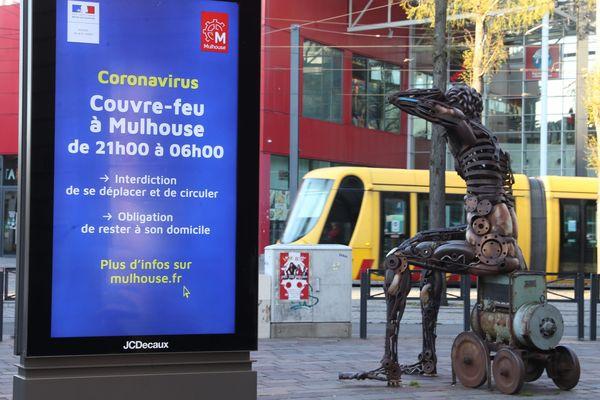 Le couvre-feu est en vigueur à Mulhouse depuis le 22 mars. Il est prolongé jusqu'au 11 mai.