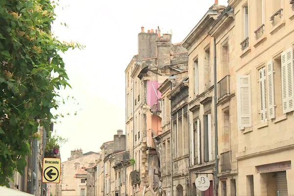 L'immeuble de la rue Planterose s'est effondré ce mercredi après-midi.