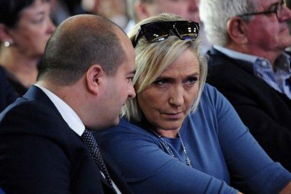 David Rachline avec Marine Le Pen à Fréjus le 19 septembre dernier.
