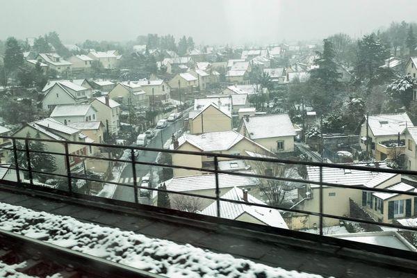 De la neige dans le Val-d'Oise, le 17 mars 2018.