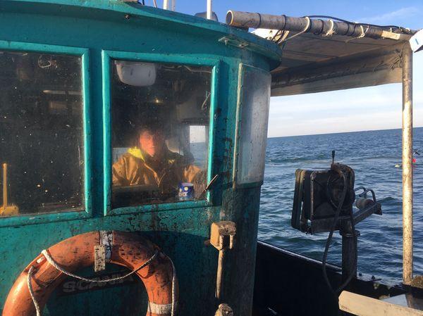 La Pêche à la seiche a débuté le 20 mars pour Pascal Henaf.