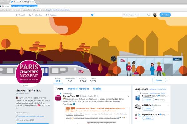 A destination des usagers, il existe un compte twitter informant de l'état du service sur la ligne