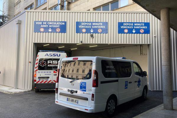 Ambulances au CHU de Rennes