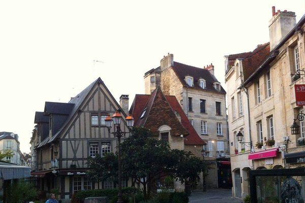 Quartier Vaugueux à Caen ce mardi matin.
