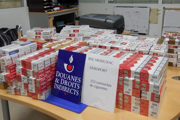 253 cartouches de cigarettes : la plus importante saisie de la région pour l'année 2018