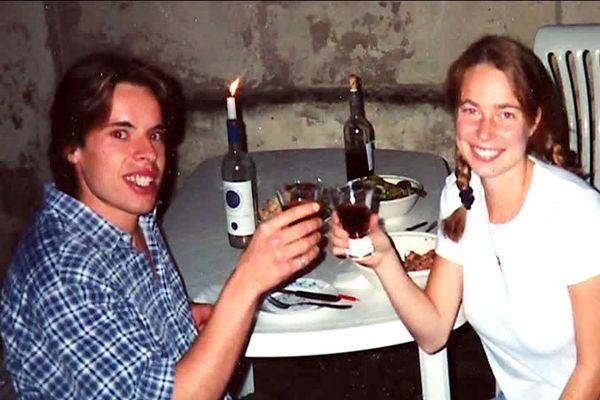 Photo de Lionel et Katja en 1997, lors de leur séjour Erasmus à Florence
