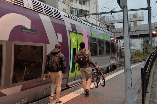 La ligne Lyon-Saint Etienne est l'une des premières lignes voyageurs de province, et sa cadence de desserte est particulièrement élevée (un train toutes les 10 à 30 minutes).
