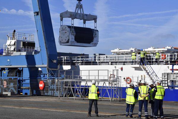 Un bateau chargé de combustible nucléaire partira de Cherbourg pour le Japon ce mercredi.