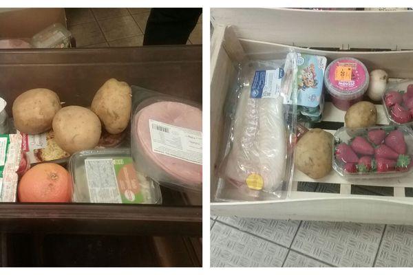 Colis alimentaires distribués aux étudiants du campus d'Orléans-la Source ce mercredi 6 mai.