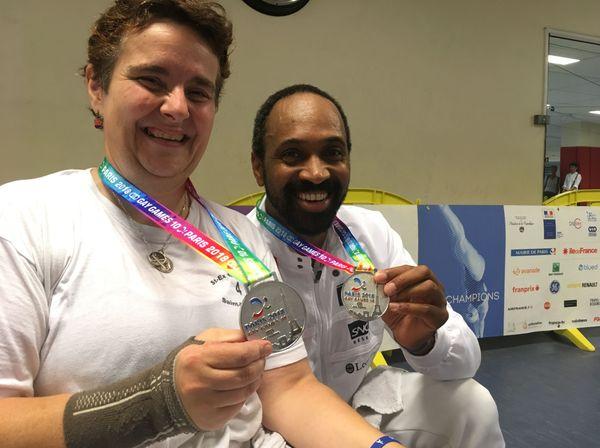 Stéphanie et Olivier médaillés d'argent aux Gay Games