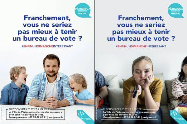 La campagne de recrutement des assesseurs à Périgueux, basée sur l'humour, a rempli son rôle : tous les postes sont pourvus
