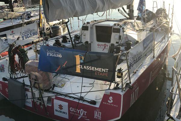 Le Figaro 3 de Pierre Leboucher, vainqueur à Saint-Nazaire de la dernière étape de la Solitaire du Figaro 2021