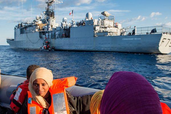 Le sauvetage a eu lieu ce vendredi au sud-est des côtes italiennes.