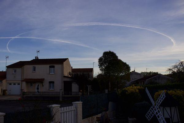 Deux cercles parfaits sont apparus dans le ciel du département du Tarn mardi 26 janvier.
