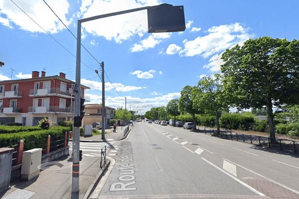 L'accident a eu lieu à l'angle de la route de Saint Simon et la rue Buffon à Toulouse, mardi soir.